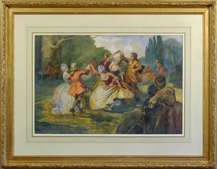 Albert Ludovici, Jr. Monsieur Coulon's dancing class