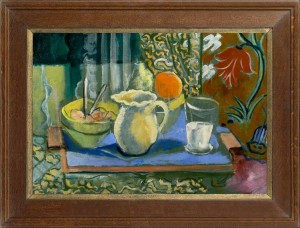 EUROPEAN SCHOOL Still life with a tray, fruit and a jug