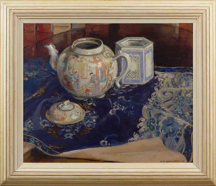OLLE HJORTZBERG Still life with Chinese porcelain