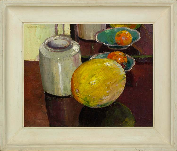 WILLIAM McCANCE Still life with a melon