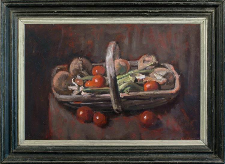 GEORGE WEISSBORT A trug full of vegetables