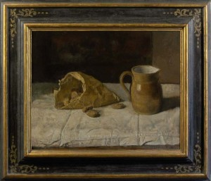 GEORGE WEISSBORT Still life with cobnuts and a pitcher