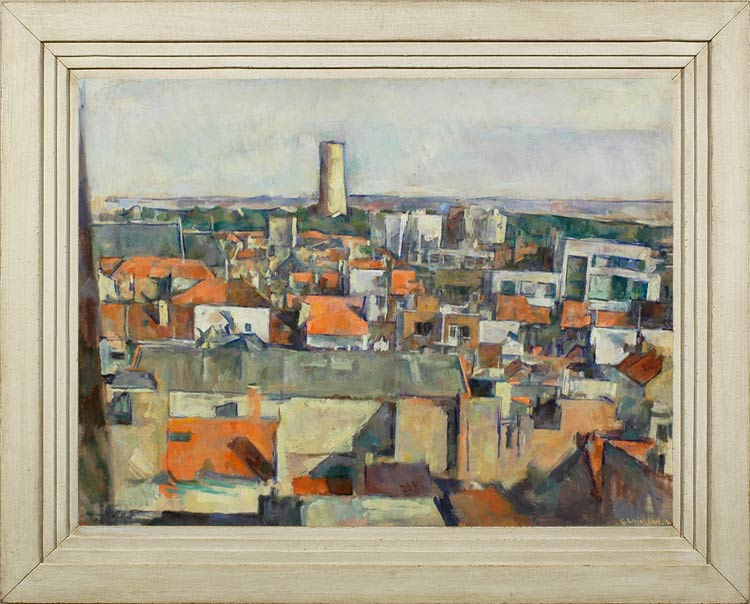 GEORGE WEISSBORT The rooftops of Ostend
