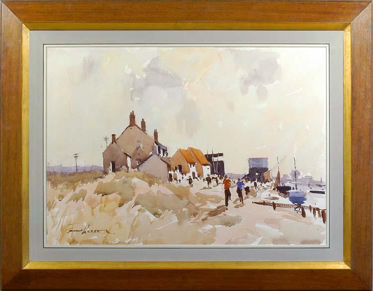 Edward Wesson 1910 1983 On The Norfolk Coast Mark Mitchell