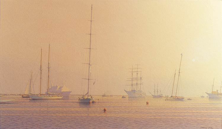 Boats moored at Cowes