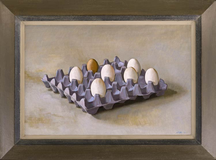A tray of eggs