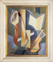 AUREL-Richter,-Cubist-composition-with-guitar-and-violin
