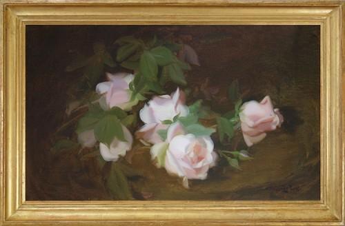 James-Stuart-Park,-A-Still-LIfe-of-Pink-Roses