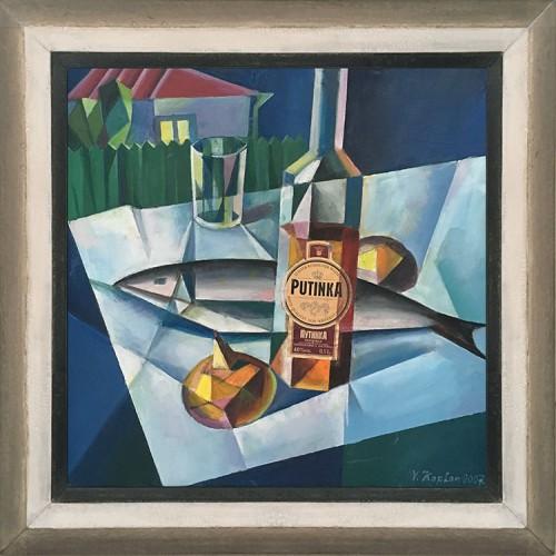KAPLAN---Cubist-still-life-with-vodka-bottle